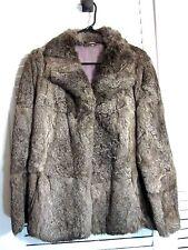 Women's Fourrure Veritable  Warm Winter Gray Viscose Fur Coat Sz 12