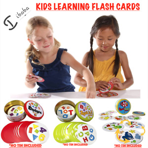 Spot it flash Card Game Education kids learning ABC 123 SHAPES ANIMALS FROZEN HP