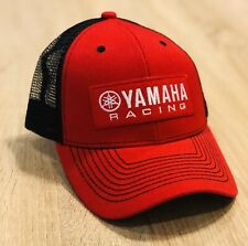YAMAHA FACTORY RACING HAT CAP BMX BIKE SNAP BACK RED BLACK MX YZF YFZ RI R6 RACE