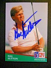 Hal Sutton - 1991 Proset Autographed PGA Golf card # 132 - Tour card
