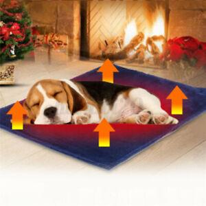 Pet Cat Dog Heat Pad Electric Blanket Warmer Heater Carbon Fiber Plush Bed Mat