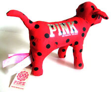 New! Victoria's Secret PINK Red Stuffed Plush Clothing Dog Puppy Toy Animal