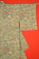 Vintage Japanese Silk Antique BORO KIMONO Kusakizome KOMON Dyed/AJ33/1100