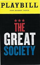 Playbill: THE GREAT SOCIETY, 2019 w/ Brian Cox, Richard Thomas, Grantham Coleman