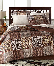 Sunham Kenya 6 Pc Reversible Animal Print Patchwork TWIN Comforter Set D3205