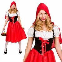 Womens Little Red Riding Hood Costume Adult Fairytale Fancy Dress UK 6-28 Ne
