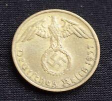 WW2 5 REICHSPFENNIG 1937 COIN *A* WW2 THIRD REICH GERMANY HITLER ERA  /18