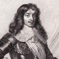 Portrait XIXe Charles de Monchy Marquis d'Hocquincourt Maréchal GuerreTrente Ans