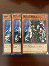 3x Skull Meister - COTD-ENSE1 - Super Rare - Limited Edition NM