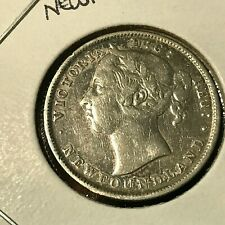 1899 HOOK 99 NEWFOUNDLAND CANADA 20 CENTS STERLING SILVER COIN