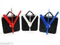 Replacement Quartz Clock Movement Mechanism Motor & Coloured Hands - Repair DIY
