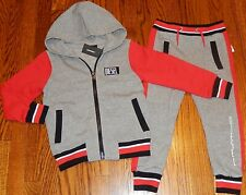 DIESEL JEANS ORIGINAL BOYS BRAND NEW AUTHENTIC 2Pc SET HOODED SUIT Size 4T, NWT