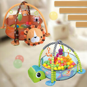 Baby Play Mat With Hanging Toys Kids Activity Infant Fitness Crawling Blanket