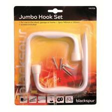 2 Jumbo Garage Hooks Brackets Ideal for telescopic extendable ladders Large XL