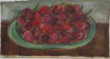 Sarah FAULKNER Cherries - Signed Painting, ROAR Studios, Still Life Fruit, Naive