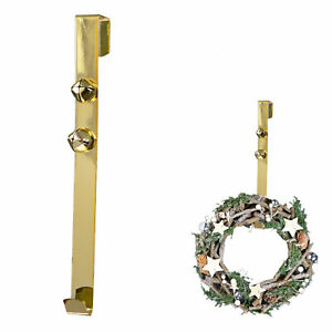 30cm Wreath Hanger with 2 Jingle Bells - Gold