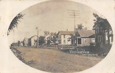 Lone Tree Iowa~West Side Homes~Houses Line Rutted Road~JW Brown Pub~1909 RPPC