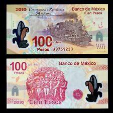 2007/2010 MEXICO 100 PESOS POLYMER P-128a UNC> > > > > >PREFIX A CENTENNIAL COMM
