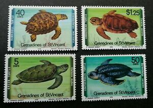 [SJ] St. Vincent Turtles 1978 Marine Life Underwater (stamp) MNH