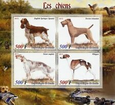 Benin Dogs Sheet Postal Stamps