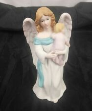 "Homco Angel With Baby Figurine 7 3/4"" Tall Excellent Condition"