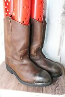 Red Wing Pecos 9.5 D Brown Leather Steel Toe Men's Work  Boots