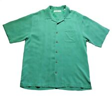 Tommy Bahama L Button Down Green All Silk