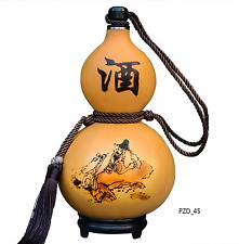 Natural Gourd Drinking Bottle Wine Water Cup Calabash Home Decor Bday Gift