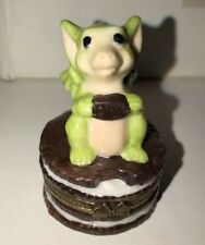 "Whimsical World Of Pocket Dragons ""Nibble Box� (trinket box) Mint Signed"