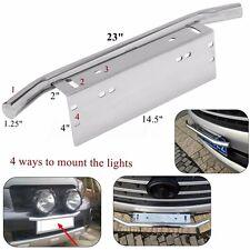 Front Bumper Bull Bar Light Mount Bracket Car Truck License Number Plate Holder