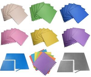 Interlocking Soft Foam Floor Mats EVA Puzzle Rubber Yoga Tiles Gym Flooring Mat