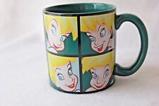 Tinkerbell Large Coffee Mug Green 10 Different Faces Peter Pan Walt Disney Store