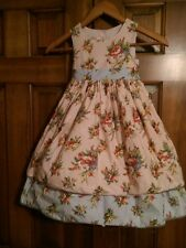 Laura Ashley Girls dress size 4 vintage floral print EEUC worn once!