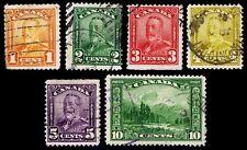 1928-29 CANADA #149-153 & 155 - USED - FINE & BETTER - CV$21.18 (ESP#2438)
