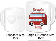 Personalised London Red Bus Double Decker Mug Large 15oz Novelty Bus Driver Gift