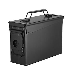 Metal Ammo Can Case – Military and Army Solid Steel 50/30 Cal Holder Box
