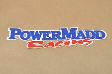 "New Power Madd Racing Graphic Emblem Decal Label Sticker 8"" Long"