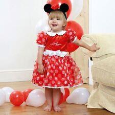 Disney Baby Minnie Mouse Vestido Rojo 3-6 Mths-Niño Bebés Traje de Disfraz