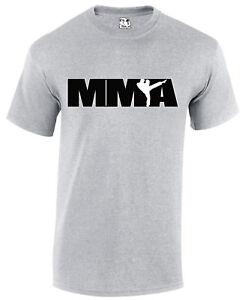 MMA Logo Design T-Shirt Mixed Martial Arts Mens UFC Cage Fighter Tee T-shirt