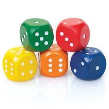 Set di 5 Dadi colorati-Classic Games colori vivaci in legno DIE