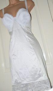 FS 1 - Oh so silky full slip, virgin white, BN, 42B under-wired, cd/tv fun