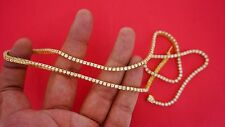 10 Carat Diamond Tennis Chain Necklace Clean 14k Yellow Gold Hip Hop Best Price