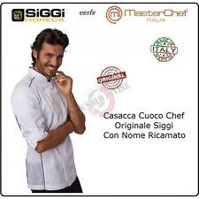 Giacca Cuoco Chef Alex Bianca Profili N. Siggi + Nome Ricamato Kochjack 28GA0191