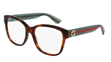 *NEW AUTHENTIC* GUCCI GG0038O 002 AVANA GREEN EYEGLASS FRAME, SIZE 54mm