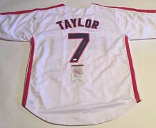 Tom Berenger 'TAYLOR' Autographed Cleveland Indians Major League Jersey JSA COA