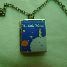 The Little Prince / Le Petit Prince Bronze book charm LOCKET necklace Antoine de