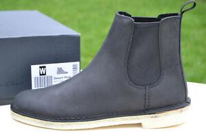 Clarks Originals BNIB Mens Chelsea Boots DESERT PEAK Black Leather UK 10 / 44.5