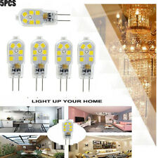 5X G4 LED Cob Bulb 2W 12VAC/DC Dimmable Cool Pure White 360 DegreesHalogen Bulb