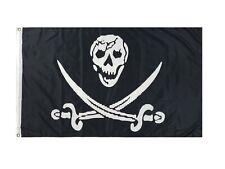 Skull & Two Swords Pirate Flag 3x5ft Pirate Boat Flag Jolly Roger Flag Skull