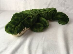 """Animal Alley 20"""" Plush Green Crocodile Alligator Toys R Us 2000 Stuffed Toy"""